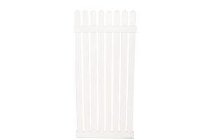 Photograph of White Picket Fencing Panel Tall – 1.8mH x 83cmW