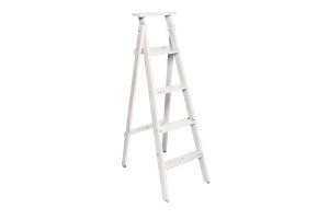 Photograph of White Rustic Ladder – 1.4mH x 80cmD – 10cmW step