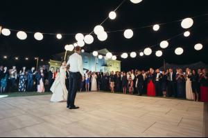 Photograph of White Wash Oak Dance Floor - 6.4m x 6.4m (Square)