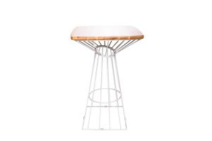 Photograph of Wins High Cocktail Table White – 70cmD x 1.1mH
