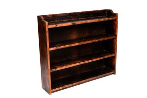 Photograph of Wooden Bookshelf  Low – 1.2mW x 30cmD x 1.5mH