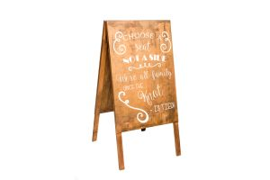 Photograph of Wooden Sign 'Choose a seat not a side' – 1.2mH x 60cmL