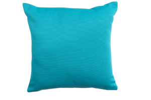 Photograph of Blue Aqua Striped Cushion – 45cmSQ