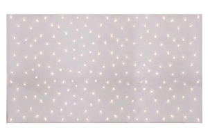 Photograph of Star Cloth Fairy Light Backdrop White