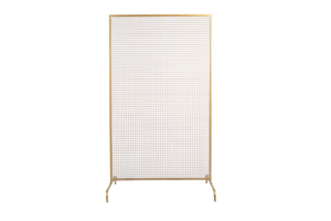 Photograph of Gold Wire Mesh Backdrop
