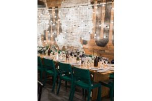 Photograph of Festoon Lighting Back Drop