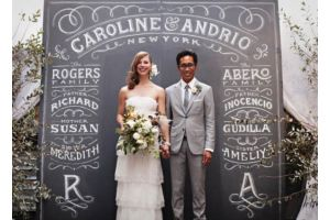Photograph of Chalkboard Backdrop