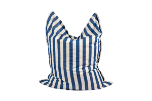 Photograph of Bean Bag Large – Blue and White Stripe – 180cm x 140cm x 25cm