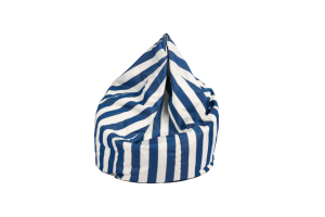 Photograph of Bean Bag Small – Blue and White Stripe – 80cm x 100cm