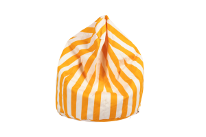Photograph of Bean Bag Small - Yellow and White Stripe