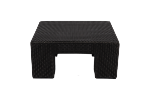 Photograph of Black Rattan Coffee Table Square – 71cmSQ x 32cmH