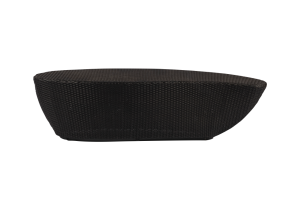 Photograph of Black Rattan Coffee Table Teardrop Large