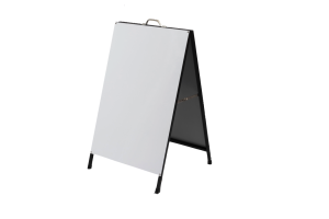 Photograph of Blank A-frame Sign – 1.1mH x 60cmW