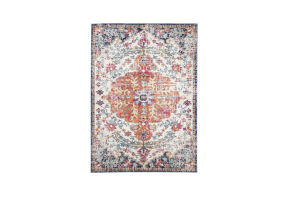 Photograph of Boho Style Moderne Lourve Rug - Light Multicolour