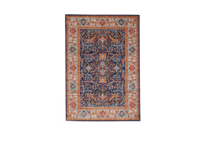 Photograph of Boho Style Moderne Poiret Rug - Dark Multicolour