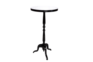 Photograph of Bordeaux Cocktail Table Black – 60cmD x 1.1mH