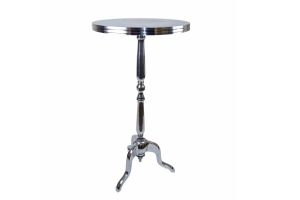 Photograph of Bordeaux Cocktail Table Silver – 60cmD x 1.1mH