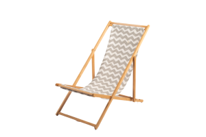 Photograph of Deckchair Grey and White Striped