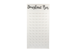 Photograph of Doughnut Wall White – 1.2mW x 2.4mH – Doughnuts not included!