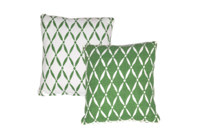 Photograph of Eden Terrace Green Cushion – 50cmSQ