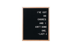 Photograph of Felt Letter Board Black