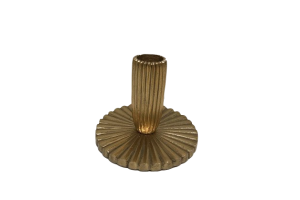 Photograph of Gold Candlestick Ornate – 10cmH