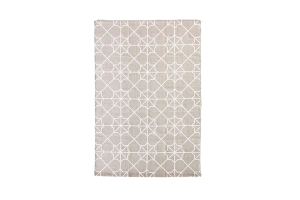 Photograph of Grey Geometric Rug