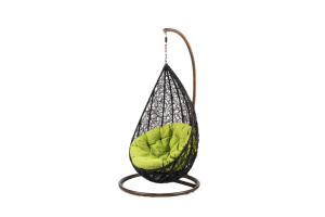 Photograph of Hanging Egg Chair – Black – 840mmD x 800mmW x 1.5mH
