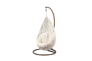 Photograph of Hanging Egg Chair – White – 840mmD x 800mmW x 1.5mH