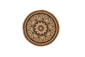 Photograph of Mandala Round Jute Rug – 1.2mD