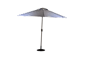 Photograph of Market Umbrella Striped Blue and White – 3m x 3m
