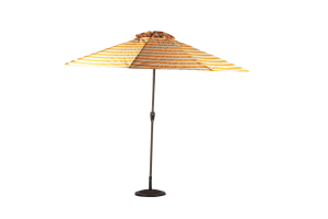 Photograph of Market Umbrella Striped Yellow and White – 3m x 3m