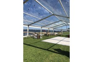 Photograph of Marquee Clear Roof – 12m x 20m