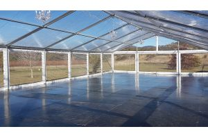Photograph of Marquee Hocker Clear Roof – 10m x 9m