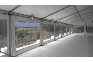 Photograph of Marquee Hocker White Roof – 10m x 24m