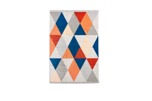 Photograph of Multicolour Geometric Rug – 1.8m x 1.2m