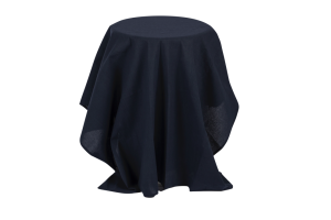 Photograph of Navy Blue Table Cloth – 2.25mL x 1.5mW