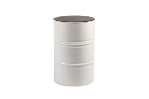 Photograph of Oil Barrel White – 60cmD x 90cmH