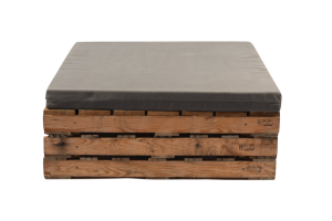 Photograph of Pallet Daybed Square with Cushion – 1.2mL x 1.2mW x 48cmH