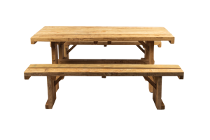 Photograph of Picnic Table Wooden with benches – 1.8mL x 95cmW x 75cmH