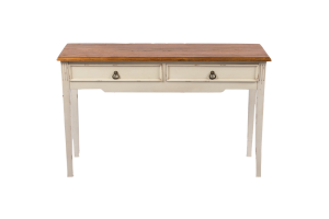 Photograph of Rustic Console Table with Oak top & 2 drawers – 1.2mL x 75cmH x 35cmD