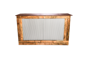 Photograph of Rustic Corrugated Iron Bar