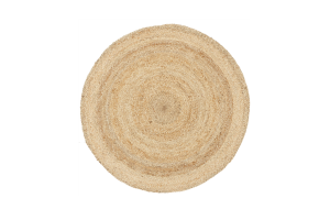 Photograph of Seagrass Round Jute Rug – 1.2mD