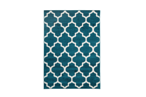 Photograph of Trellis Aqua Blue Rug – 1.6m x 2.3m