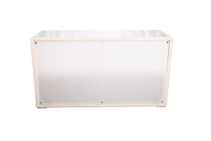 Photograph of White Rattan Illuminated Bar – 2mW x 70cmD x 110cmH