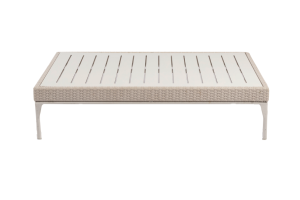 Photograph of White Rattan Low Coffee Table Large