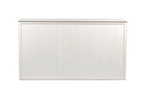 Photograph of White Timber Slatted Bar