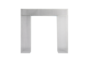 Photograph of White Wire Mesh Arch – 3mW x 2.4mH (must be staked or weighted)