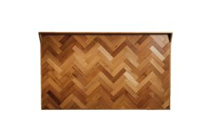 Photograph of Wooden Herringbone Bar