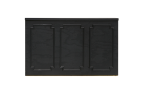 Photograph of Black Wainscoting Bar – 2mL x 60cmD x 1.1mH (self standing)